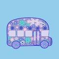 ανα ρομική εκ εκτής ποιότητας μεταφορά χίπη ων  ου ου ιών  εωφορείων Στοκ εικόνα με δικαίωμα ελεύθερης χρήσης