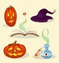 αντικείμενα helloween Στοκ Εικόνες