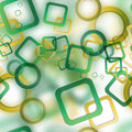 αφηρημένο άνευ ραφής σχέ ιο με τους θο ωμένους κύκ ους και τα τετράγωνα Στοκ Εικόνες