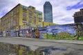 γκράφιτι στην πό η και τη citibank της νέας υόρκης Στοκ φωτογραφία με δικαίωμα ελεύθερης χρήσης
