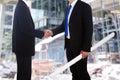 επιχειρησιακό εργοτάξιο οικοδομής συμφωνίας Στοκ φωτογραφία με δικαίωμα ελεύθερης χρήσης