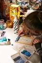 εργασία μωσαϊκών χόμπι Στοκ φωτογραφία με δικαίωμα ελεύθερης χρήσης
