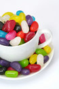 ζελατίνα φλυτζανιών φασ&omicro Στοκ φωτογραφία με δικαίωμα ελεύθερης χρήσης