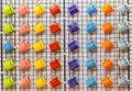 ζωηρόχρωμες κεραμικές κούπες καφέ Στοκ εικόνες με δικαίωμα ελεύθερης χρήσης