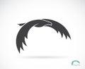 διανυσματική εικόνα ενός σχε ίου αετών Στοκ Εικόνα