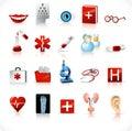 ιατρικό σύνολο 2 εικονιδί&o Στοκ εικόνες με δικαίωμα ελεύθερης χρήσης