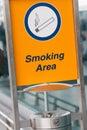 κάπνισμα περιοχής Στοκ φωτογραφία με δικαίωμα ελεύθερης χρήσης