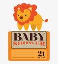 κάρτα πρόσκ ησης ντους μωρών Στοκ φωτογραφίες με δικαίωμα ελεύθερης χρήσης