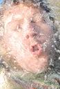κρύο άτομο Στοκ Φωτογραφία