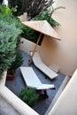 μικρός ήλιος patio αργοσχόλων Στοκ Φωτογραφίες