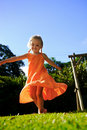 ξανθό ξένοιαστο κορίτσι υ&pi Στοκ Εικόνες