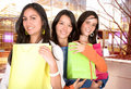 image photo : Girls in a shopping spree