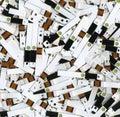 ξοδευμένη δοκιμή λουρίδων Στοκ φωτογραφίες με δικαίωμα ελεύθερης χρήσης