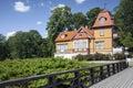 ξύ ινο σπίτι στην εσθονία Στοκ Εικόνες