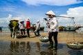 οι γυναίκες σε μακρύ hai α ιεύουν την αγορά επαρχία ba ria vung tau βιετνάμ Στοκ Εικόνα
