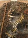 ο ερημίτης στην αρχαία μαριονέτα σκιών ramayanan Στοκ Εικόνες