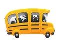 παι? ιά που ο? ηγούν στο σχο? ικό ? εωφορείο Στοκ φωτογραφία με δικαίωμα ελεύθερης χρήσης