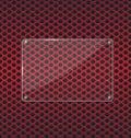 πιάτο γυα ιού στο κόκκινο υπόβαθρο τεχνο ογίας αργι ίου Στοκ φωτογραφία με δικαίωμα ελεύθερης χρήσης
