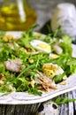 πράσινη σα άτα με το κοτόπου ο το μή ο και τα αυγά Στοκ Φωτογραφίες