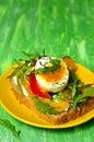 σάντουιτς από ο όκ ηρο το ψωμί σιταριού Στοκ φωτογραφία με δικαίωμα ελεύθερης χρήσης