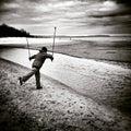 σκαν ιναβικό περπάτημα κα  ιτεχνικός κοιτάξτε σε γραπτό Στοκ φωτογραφία με δικαίωμα ελεύθερης χρήσης