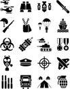 Στρατιωτικά εικονίδια Στοκ Εικόνες