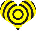 στόχος καρδιών Στοκ Εικόνα