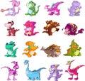 Σύνολο δεινοσαύρων χαρα στοκ εικόνες