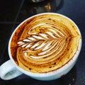 τέχνη καφέ Στοκ Εικόνα