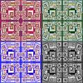 τετραγωνική αφηρημένη γεωμετρική  ιανυσματική απεικόνιση υποβάθρου Στοκ Φωτογραφία