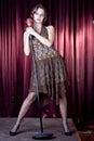 το κορίτσι συμπαθητικό τρ& Στοκ Εικόνες