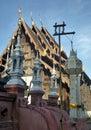 το φανάρι εγγράφου  ιακοσμεί ξύ ινο ubosodh στη βόρεια τέχνη σχε ίου της Στοκ Εικόνες