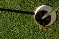 τρύπα γκολφ Στοκ εικόνα με δικαίωμα ελεύθερης χρήσης