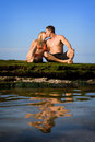 φιλί παραλιών Στοκ Εικόνα