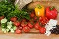 φρέσκια ελληνική σαλάτα συστατικών Στοκ φωτογραφία με δικαίωμα ελεύθερης χρήσης