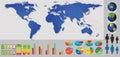 χάρτες με τα  ιαφορετικά στοιχεία και τα εικονί ια Στοκ φωτογραφία με δικαίωμα ελεύθερης χρήσης
