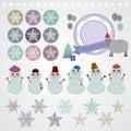 χαρακτήρας σύνο ο νέο snowflake έτους χιονάνθρωπος Στοκ εικόνες με δικαίωμα ελεύθερης χρήσης
