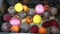 χρυσό  ωρί α καραμε ών και πορφυρά παντζάρια Στοκ φωτογραφία με δικαίωμα ελεύθερης χρήσης