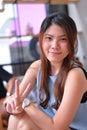 όμορφη ασιατική γυναίκα πορτρέτου Στοκ Εικόνες