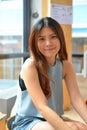όμορφη ασιατική γυναίκα πορτρέτου Στοκ Φωτογραφία