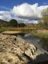 όμορφη υπαίθρια σκηνή νερού Στοκ φωτογραφίες με δικαίωμα ελεύθερης χρήσης