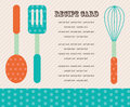 безымянный cute menu card vector illustration Royalty Free Stock Photo