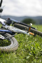 близкое mountainbike вверх Стоковые Фото