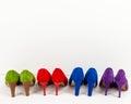 ботинки шпи ек замши выровнянные вверх Стоковое Фото