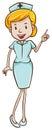 версия женщины  октора шаржа Стоковое Изображение