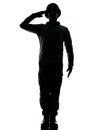 воин человека армии салютуя Стоковое Изображение