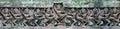 высекать старого laterite кхмера каменный apsara на Стоковые Изображения