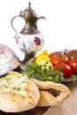 гарнированные овощи turkish pide Стоковые Фото