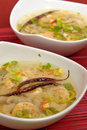 горячий суп креветки кислый Стоковые Изображения