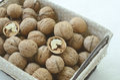 грецкий орех в корзине прово а Стоковое фото RF